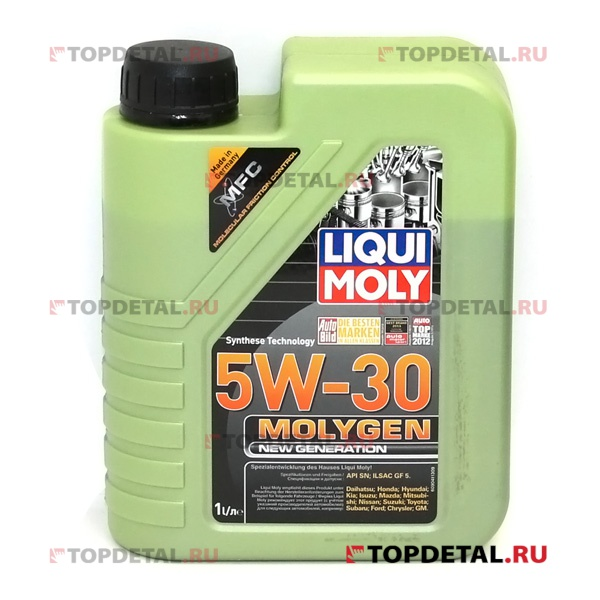 Масло Liqui Moly моторное 5W30 Molygen Generation 1 л (синтетика)