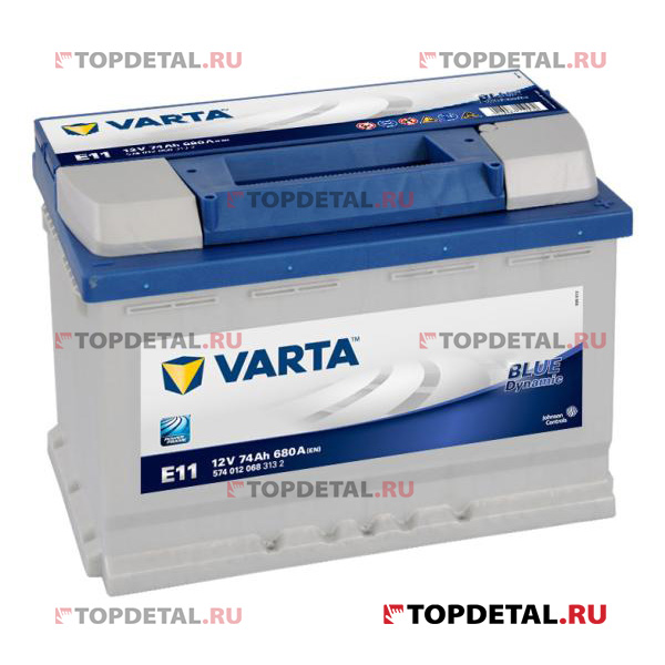 Аккумулятор 6СТ-74 VARTA Blue Dynamic о.п. пуск.ток 680 А (278х175х190) клеммы евро