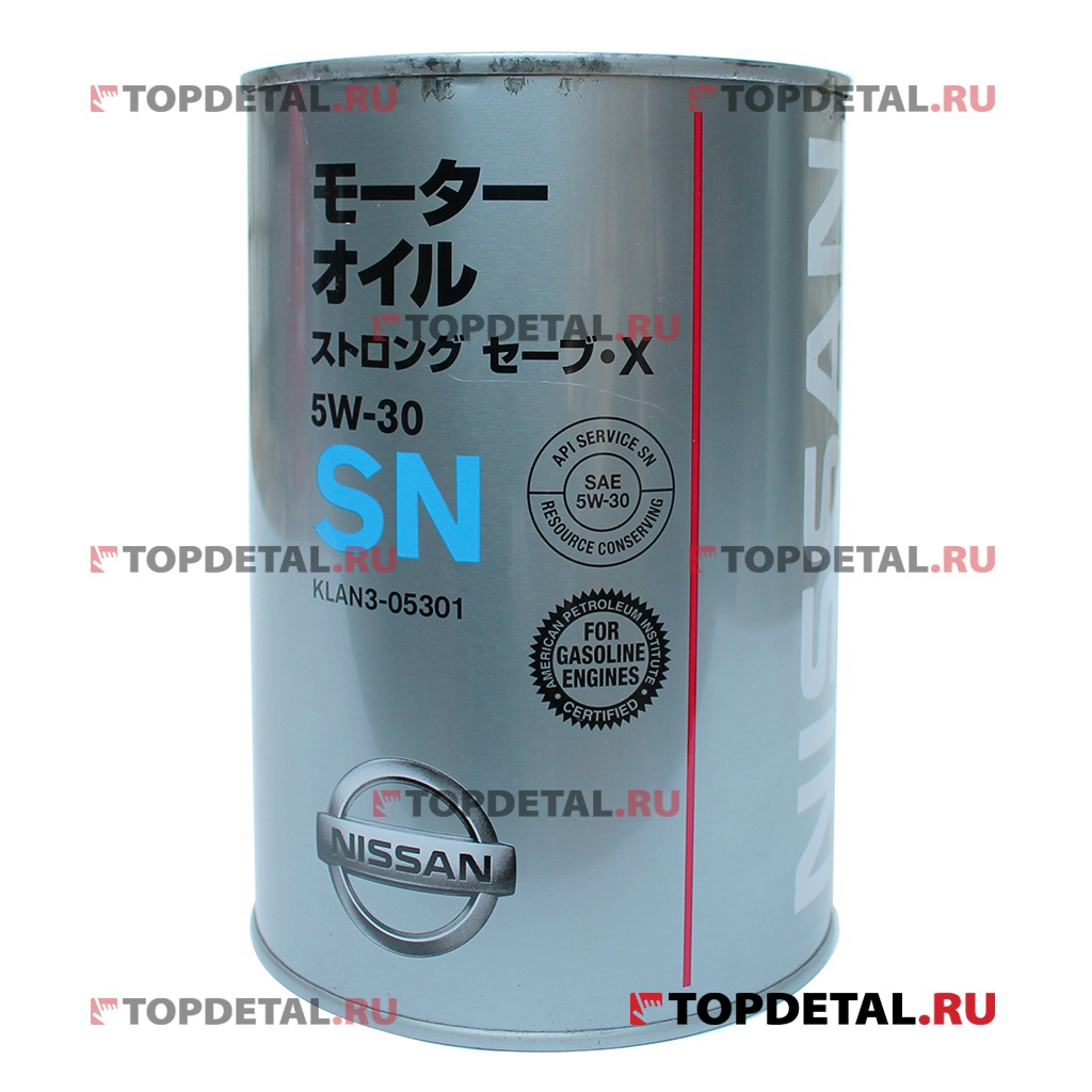 Масло NISSAN моторное 5W30 Motor Oil STRONG X SM 1л (полусинтетика)