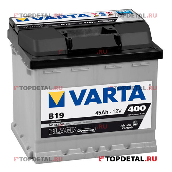 Аккумулятор 6СТ-45 VARTA Black Dynamic о.п. пуск.ток 400 А (207х175х190) клеммы евро