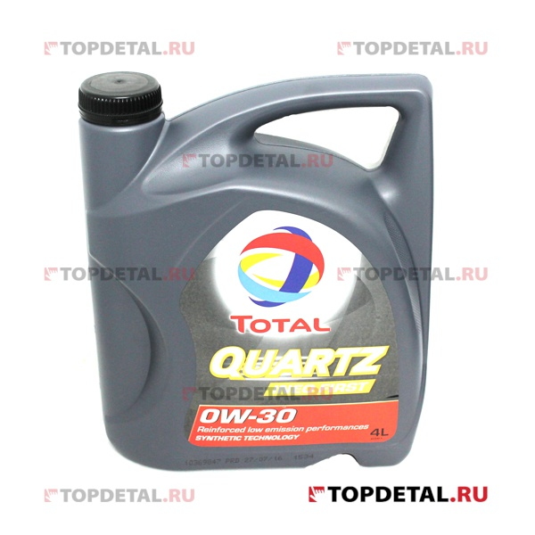 Масло TOTAL моторное 0W30 QUARTZ INEO FIRST 4л (синтетика)