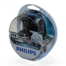 Лампа галогенная H4 12В 60/55 Вт Р43t +100% Х-treme Vision (2шт) Philips
