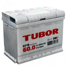 Аккумулятор 6СТ-60.0 TUBOR EFB о.п. пуск.ток 600 А (242*175*190) клеммы евро
