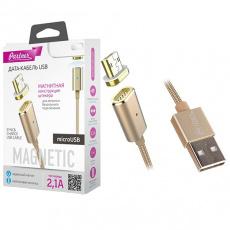 Кабель магнитный USB 2.0 - microUSB, 1м, нейлон, Partner
