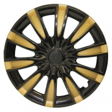 Колпак колеса R14 Торнадо микс золотой (пруж) кт 2 шт. АКС