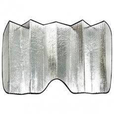 Шторка солнцезащитная на лобовое стекло серебристая Zipower