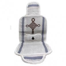 Накидка на сиденье на сиденье плетёные на силик. основе (серый) полный кт.+ поддержка