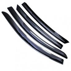 Дефлекторы боковых стекол Hyundai Solaris 2011 седан (кт. 4 шт) (накладные) VORON GLASS