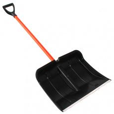Лопата для снега 500х400 мм с алюмин. планкой Богатырь Стандарт (метал. черенок с ручкой) ЦИКЛ