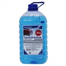 """Жидкость омывания стекол Ниагара 4 л """"Универсальная"""" Red Bubble (незамерзайка до -20) без метанола"""
