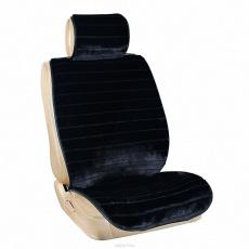 Накидка сиденья меховая искусственная мутон 5 предм. ARCTIC Черный Полоска SKYWAY