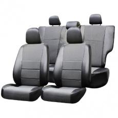 Чехлы на сиденья ВАЗ-2123 CHEVROLET NIVA c 2002-2014 SUV Жаккард/экокожа 12 пр. SKYWAY Темно-серый