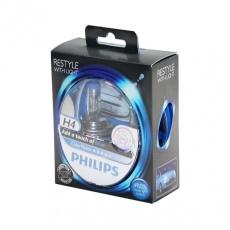 Лампа галогенная H4 12В 60/55 Вт Р43t Color Vision голубой (2шт) Philips