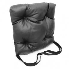 Подушка на сиденье из экокожи с фиксирующим ремнем