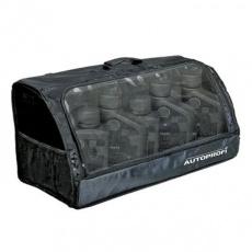 Органайзер в багажник TRAVEL, брезентовый с прозрачным клапаном 70х32х30см (черный)