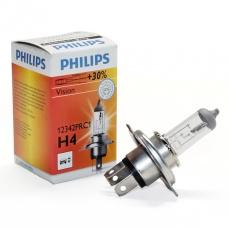 Лампа галогенная H4 12В 60/55 Вт Р43t Premium Philips +30%