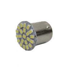 Лампа светодиодная S25 (P21W) 12V 22 SMD диода BA15s 1-конт Белая SKYWAY Противотуманн