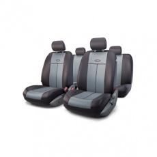 Чехлы на сиденья универсальные TT, полиэстер/велюр, 9 предм., передний ряд, задний ряд, AIRBAG, чёрн