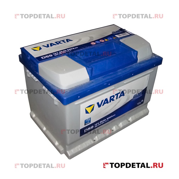 Аккумулятор 6СТ-60 VARTA Blue Dynamic о.п. пуск.ток 540 А (242х175х175) клеммы евро
