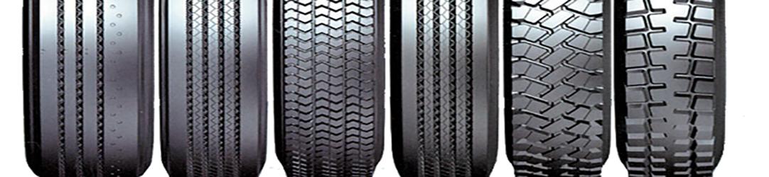 Типы рисунков протектора шин для грузовых автомобилей