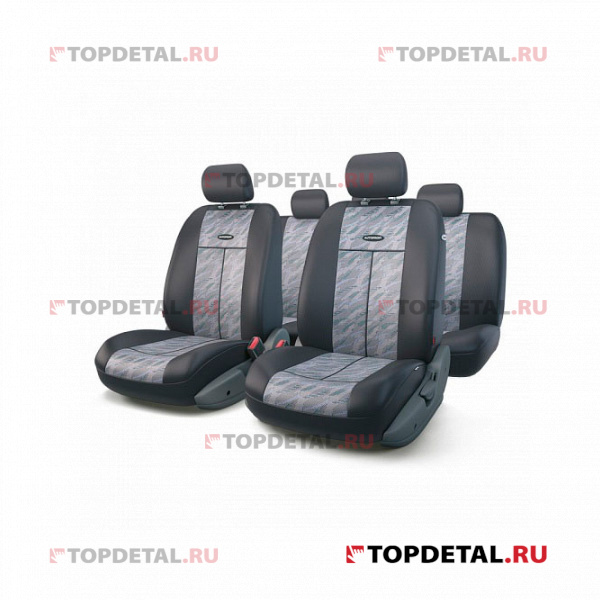 Чехлы на сиденья универсальные TT, полиэстер/жаккард, 9 предм., передний ряд, задний ряд, AIRBAG купить в интернет-магазине Topdetal.ru