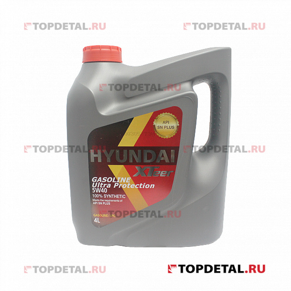 Масло HYUNDAI XTeer моторное 5W40 Gasoline Ultra Protection SN 4 л (синтетика)