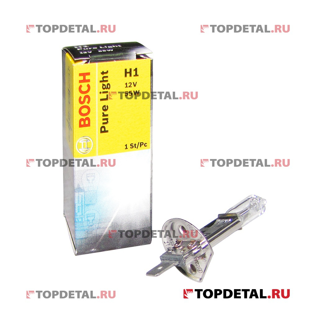 Лампа галогенная H1 12В 55 Вт P14,5s STANDART Pure Light BOSCH